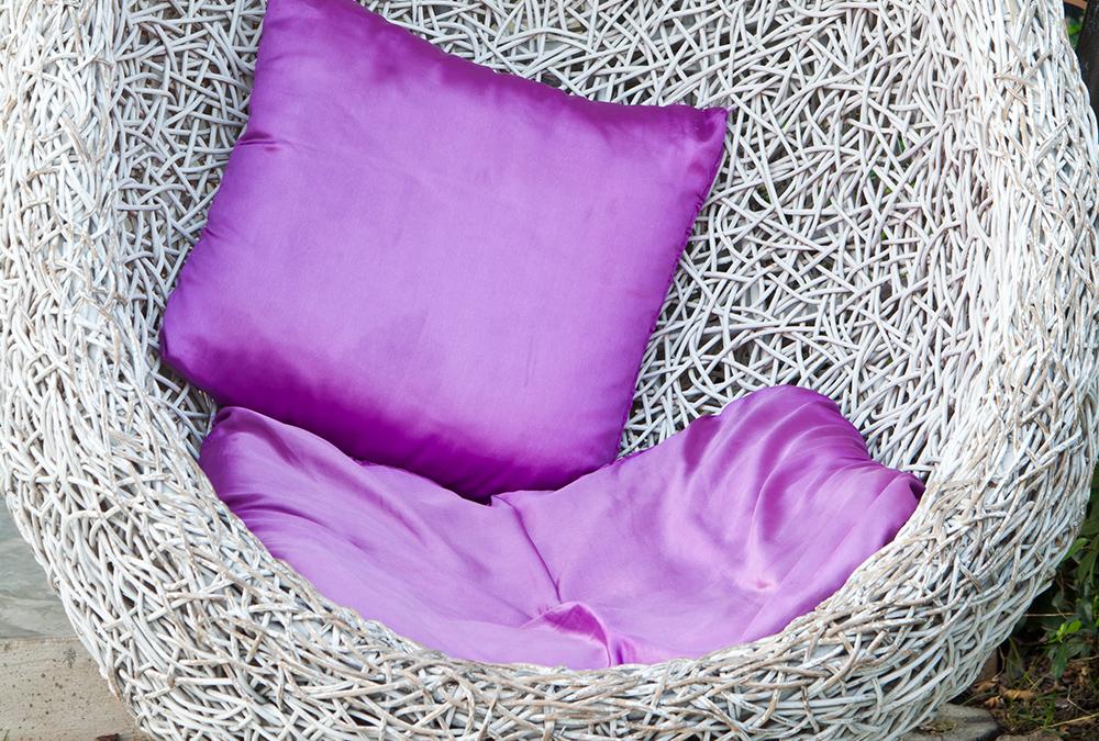 purple outdoor pillows
