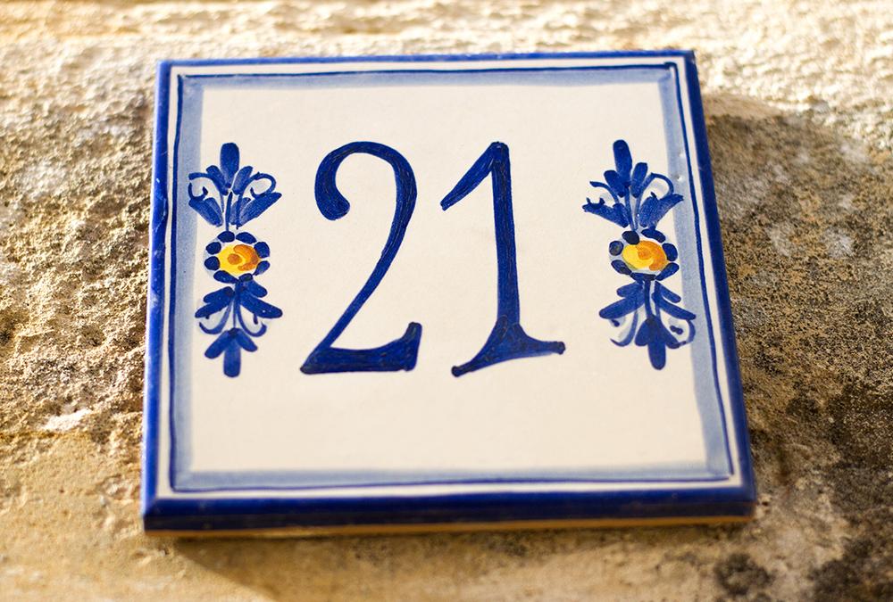blue address numbers