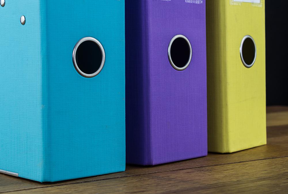 colorful magazine holders
