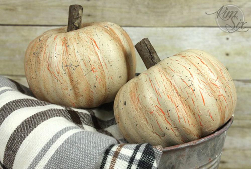 distressed pumpkins