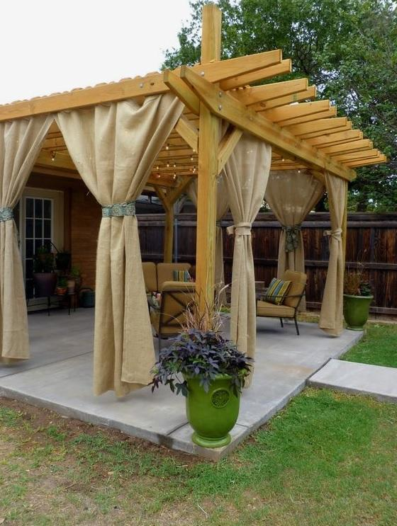 Outdoor curtains patio
