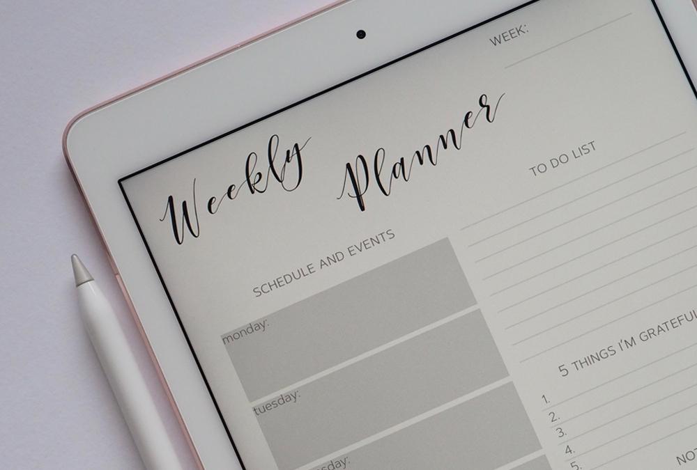 digital planner on ipad