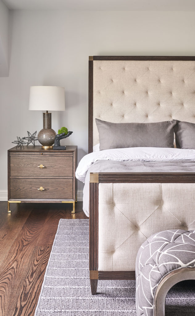 stylish Bed and nightstand