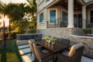 cozy dining patio