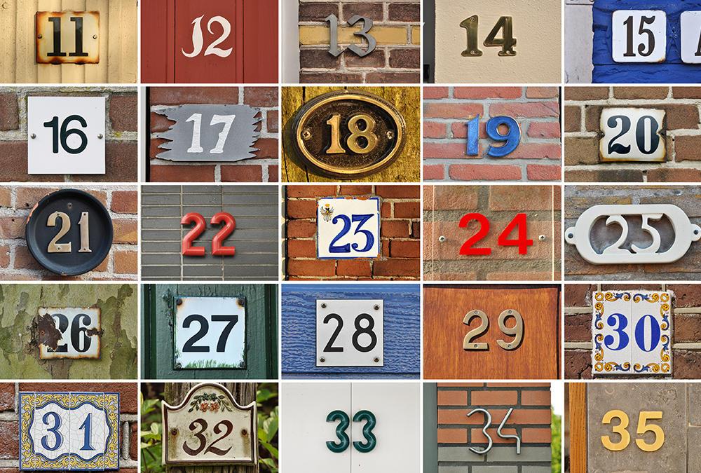 Street Numbers Decor