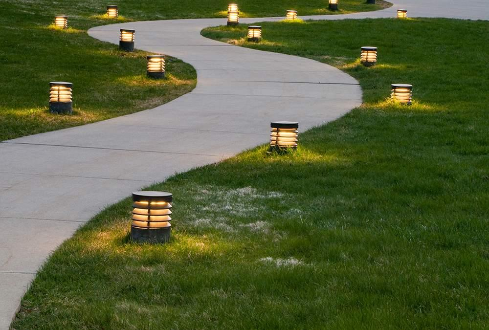 Curved Path with Lights