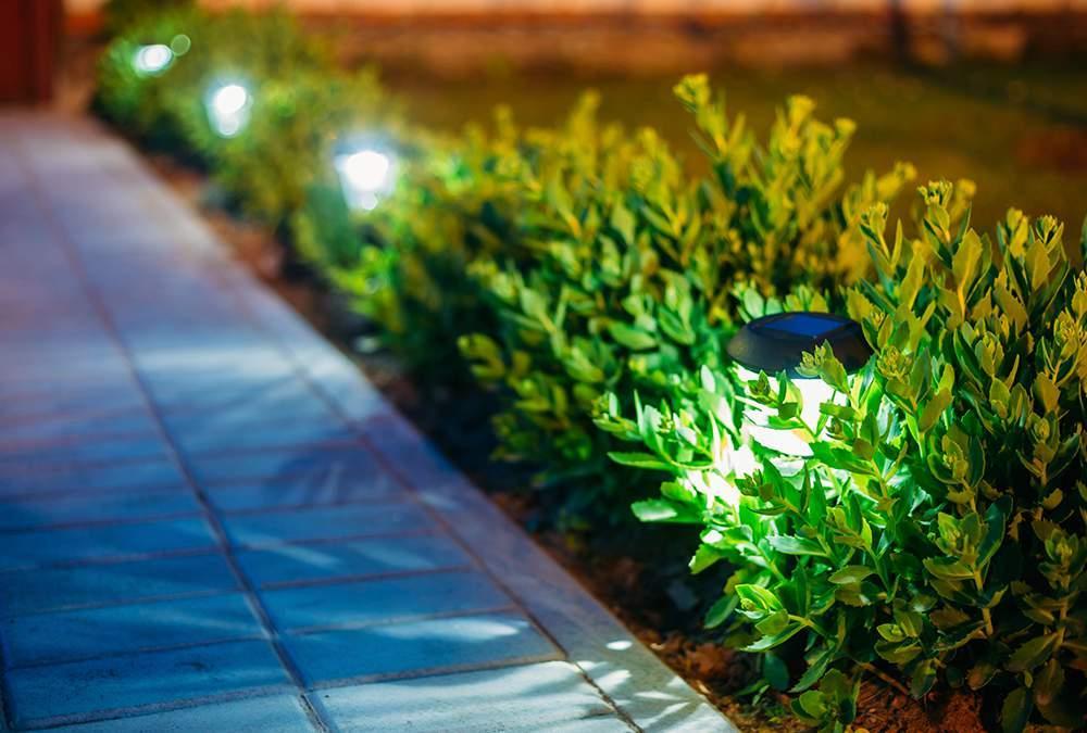 Solar Lit Walkway
